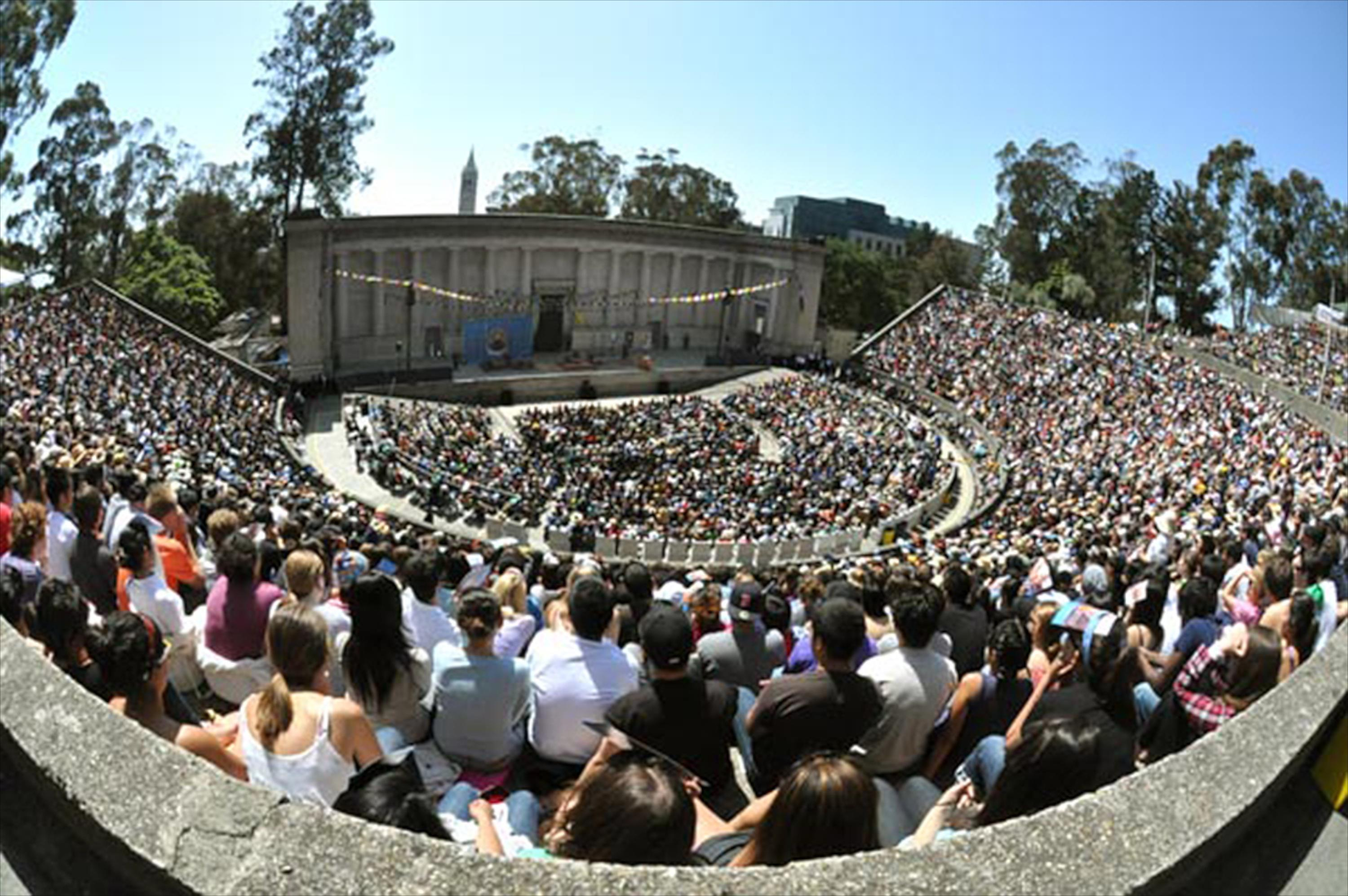 Photo of crowd at the Greek Theater