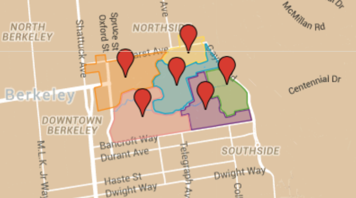 link to map with building and officer contact info