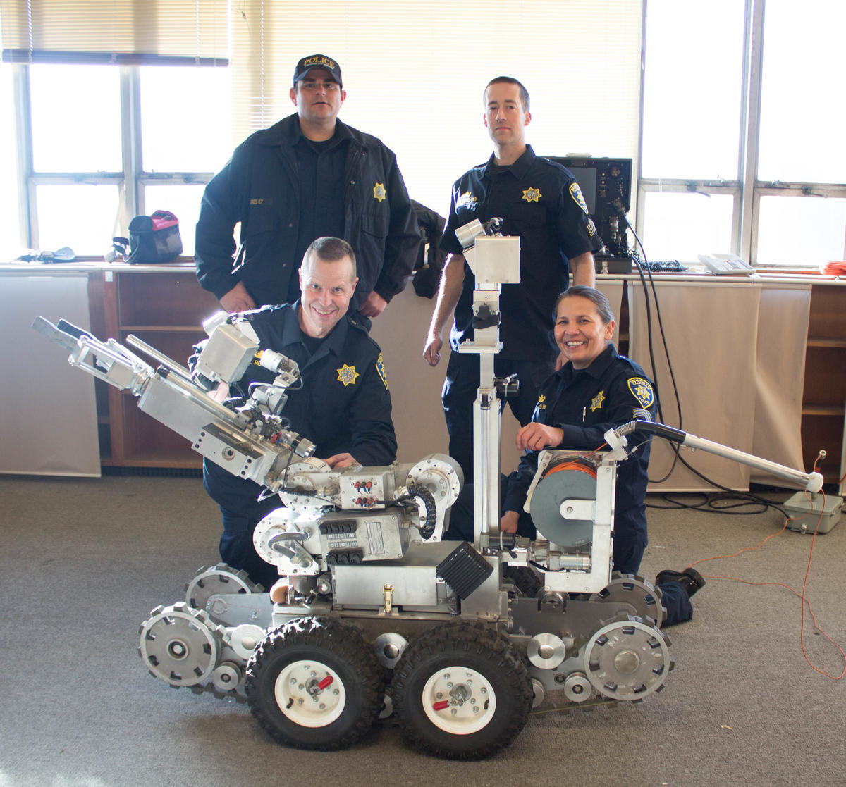 The Bomb Squad pictured with the Robot